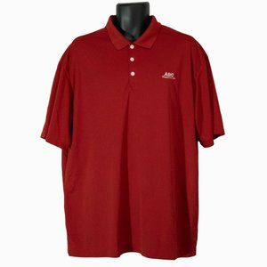Men's Nike Golf ABC Supply Red Polo Shirt Size XL